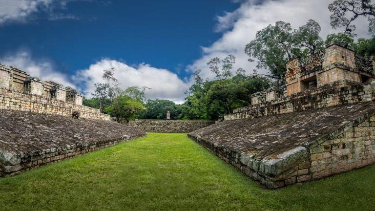 Ball,Court,Of,Mayan,Ruins,-,Copan,Archaeological,Site,,Honduras