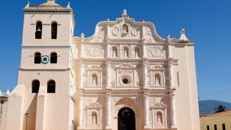 Honduras,,View,On,The,Colonial,Cathedral,Of,Comayagua,In,Comayagua