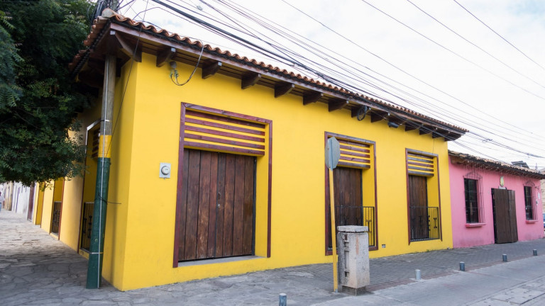 The,Beautiful,Color,Houses,In,Down,Town,Of,Comayagua,,Honduras